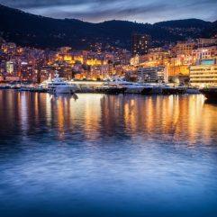 Nice-to-Monaco-port-night