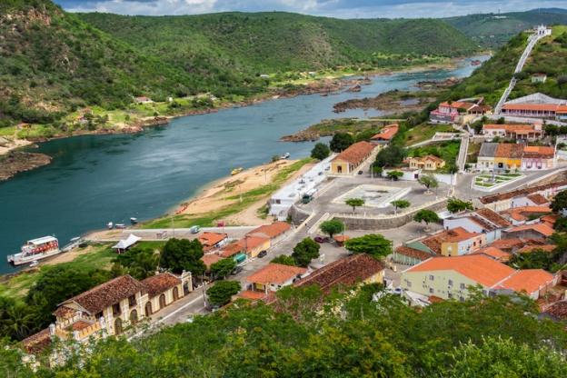 Top View of Piranhas City - Alagoas - Brazil