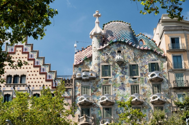 Barcelona (Spain): buildings of Passeig de Gracia