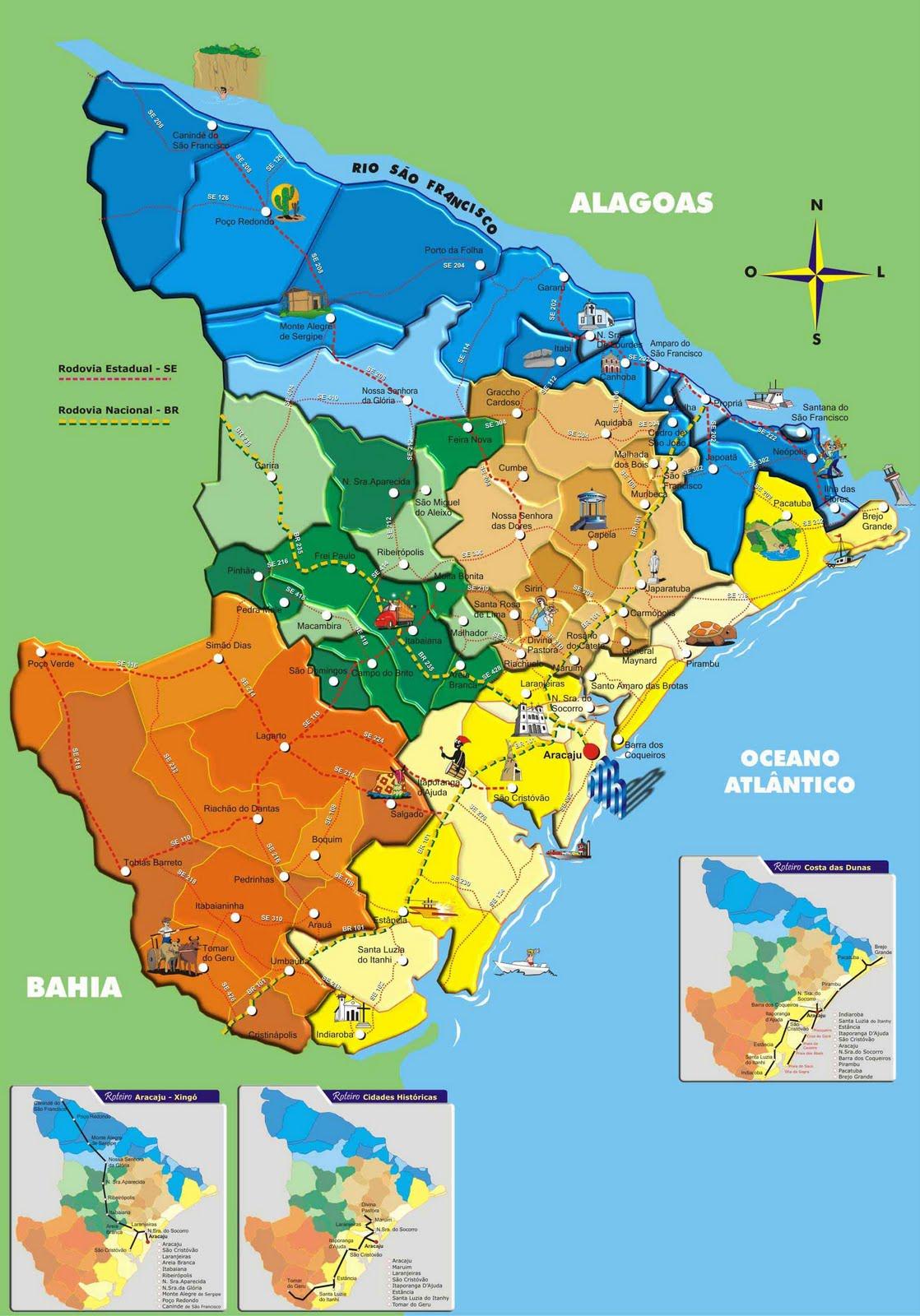 Mapas de Sergipe | MapasBlog